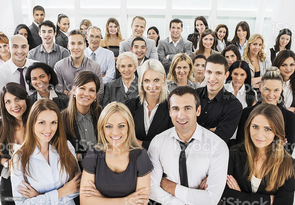 Large group of business people. royalty-free stock photo