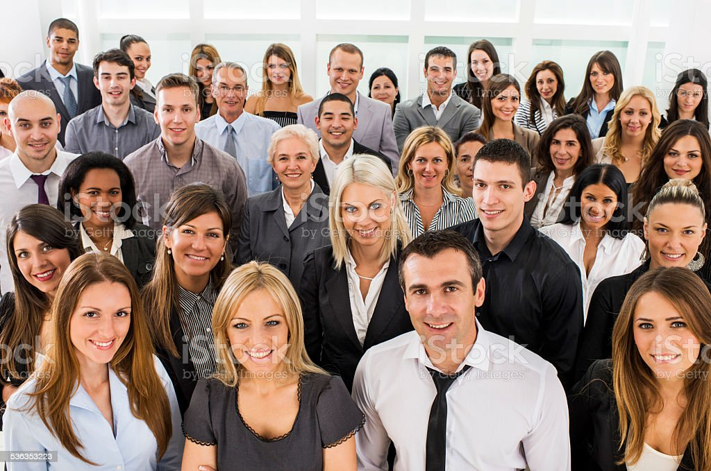 Large group of business people. stock photo