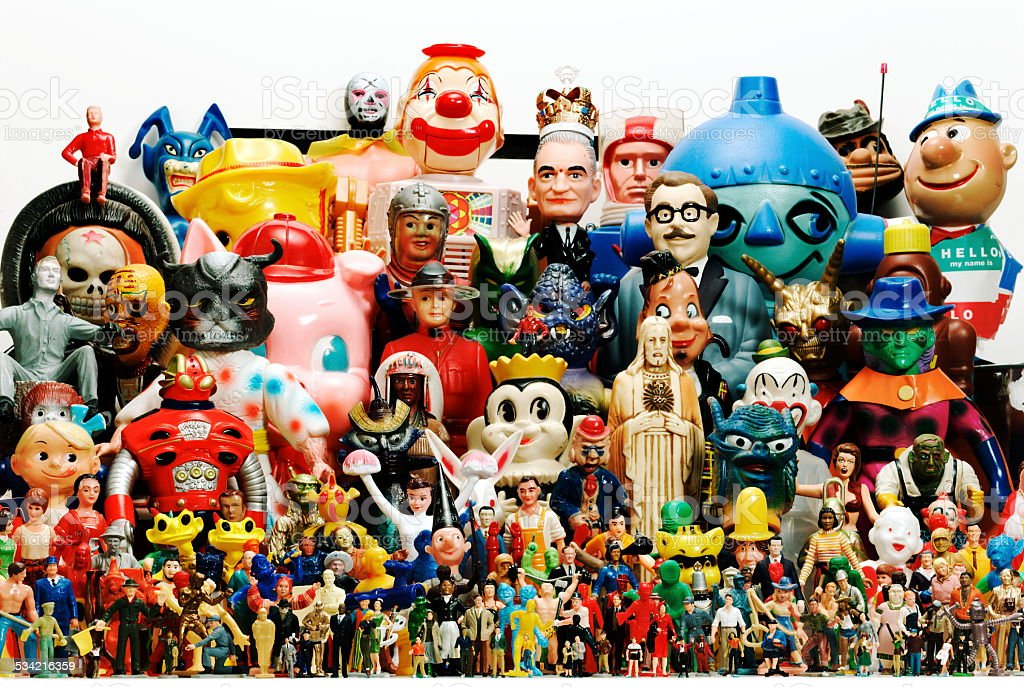 Large Group of Characters stock photo