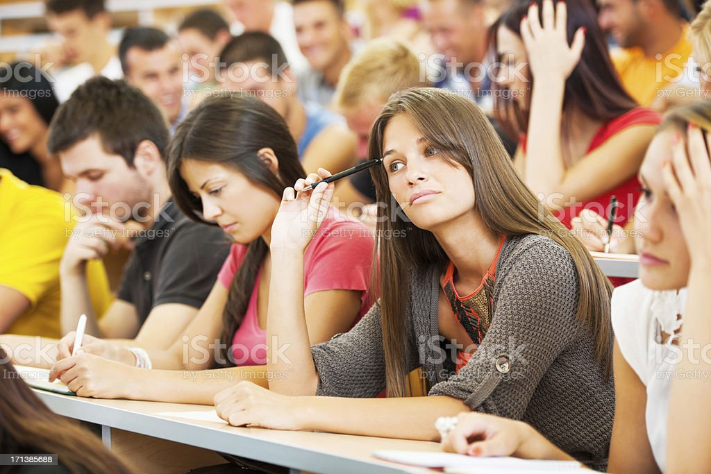 Large group of college students at lecture hall. royalty-free stock photo