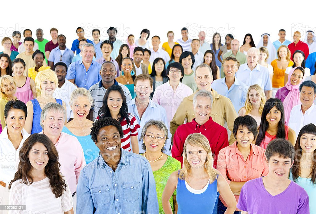 Large group of ethnicity royalty-free stock photo