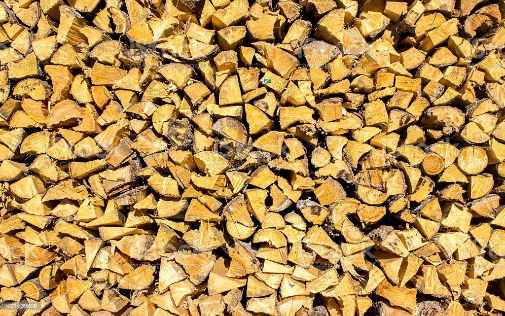 Large group of firewoods stock photo