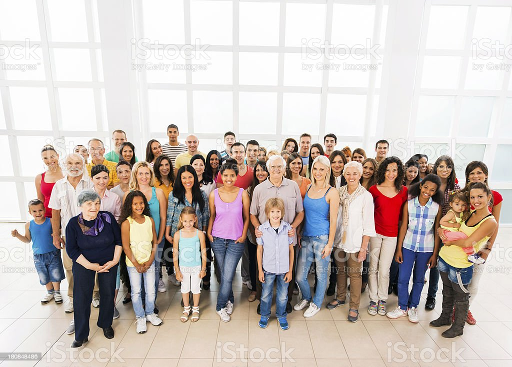 Large group of happy multi-ethnic people. royalty-free stock photo