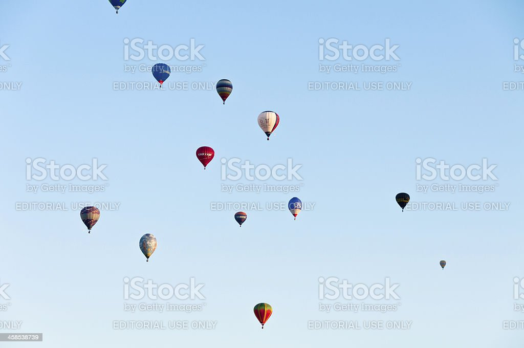 Large Group Of Hot Air Balloons stock photo