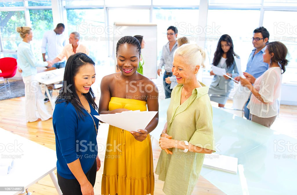 Large group of multi ethnic casual business people royalty-free stock photo