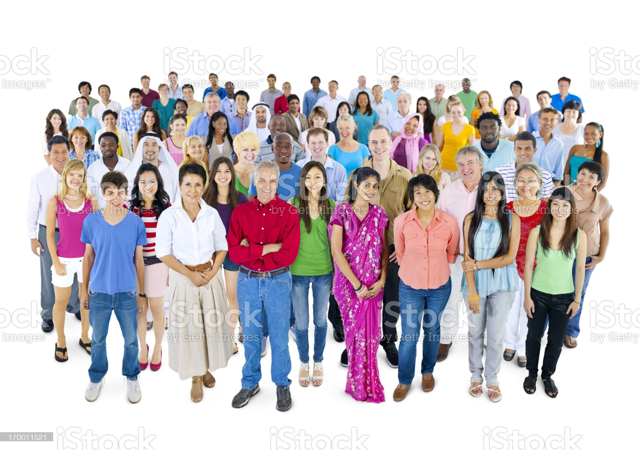 Large group of Multi-ethnic people royalty-free stock photo