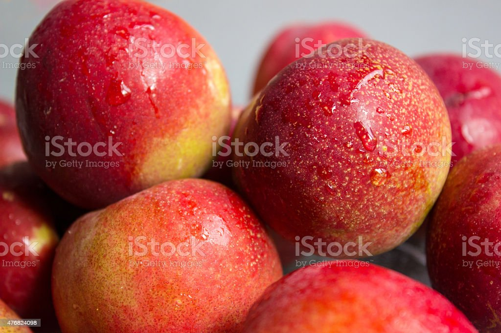 Large Group of peaches stock photo