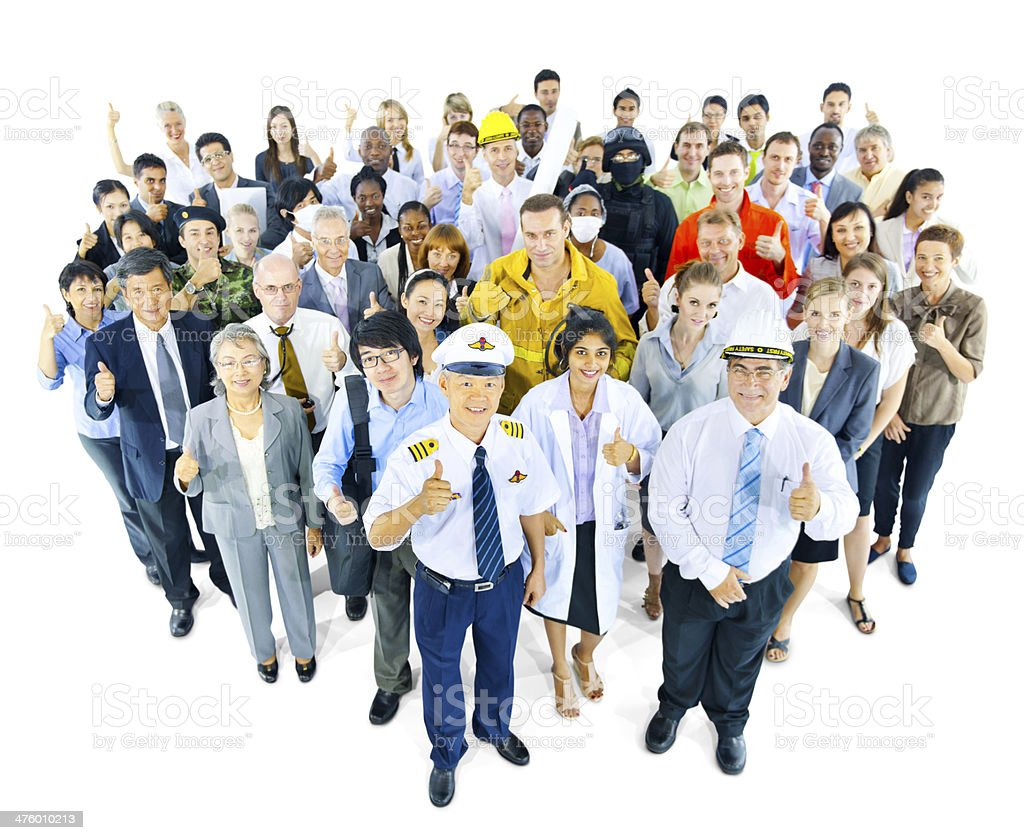 Large Group of People with Different Occupation stock photo