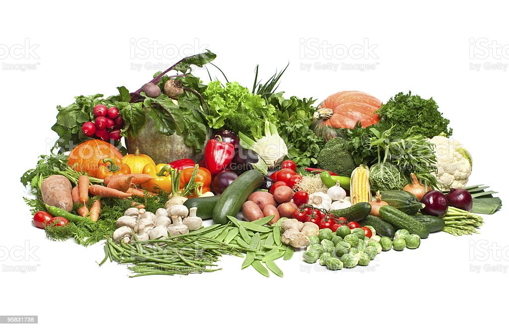 large group of vegetables royalty-free stock photo