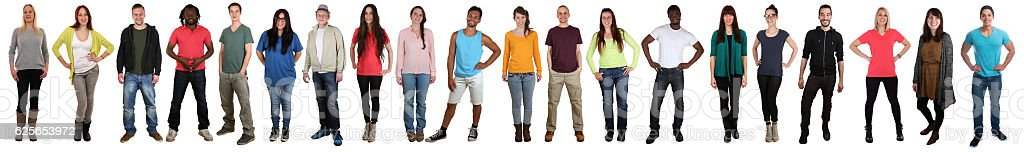 Large group of young people smiling happy multicultural multi ethnic stock photo