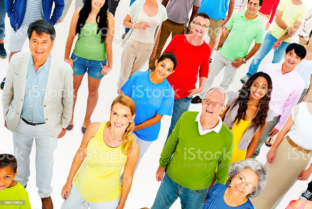 Large Group People Working Team Diverse Ethnic Concept stock photo