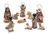 large handmade nativity scene