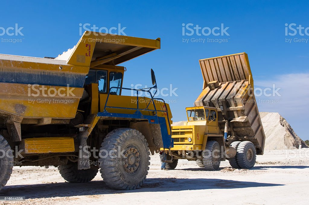 Large haul truck stock photo