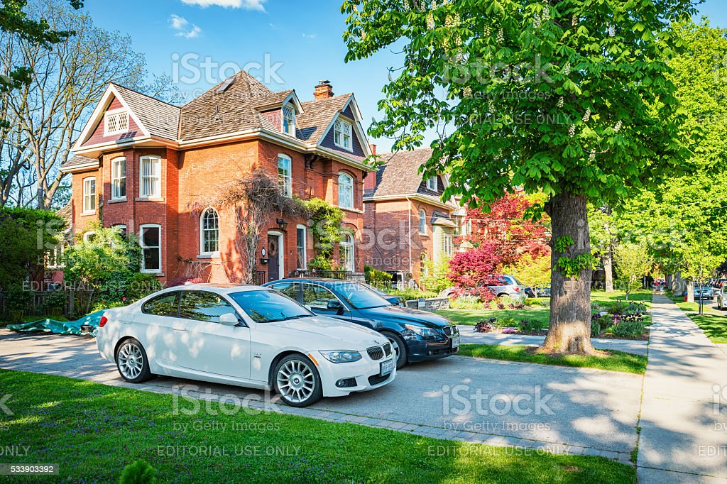 Large Homes in Dundas Hamilton Ontario Canada stock photo