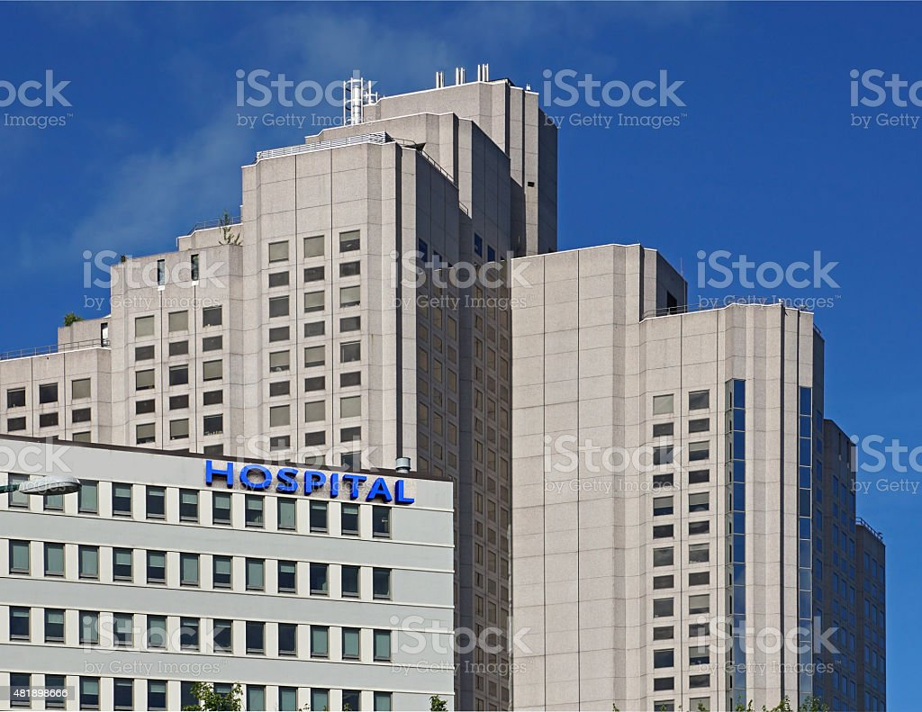 large hospital building stock photo