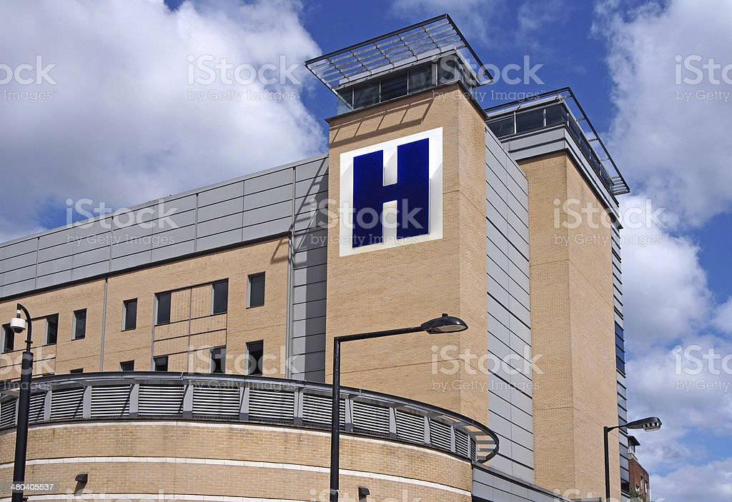 Large hospital stock photo