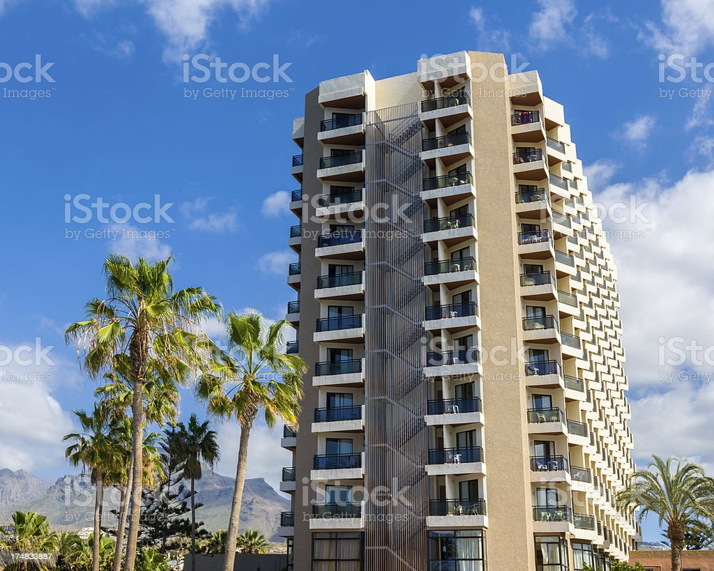 Large Hotel Complex, Tenerife royalty-free stock photo