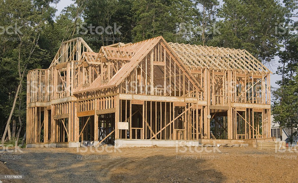Large House Framing stock photo