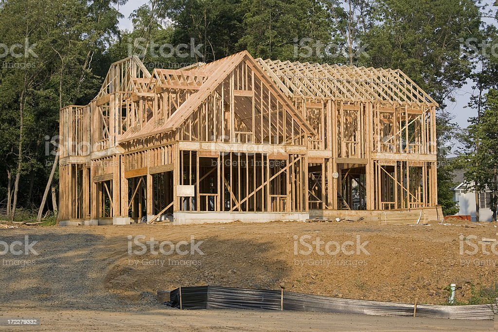 Large House Framing royalty-free stock photo