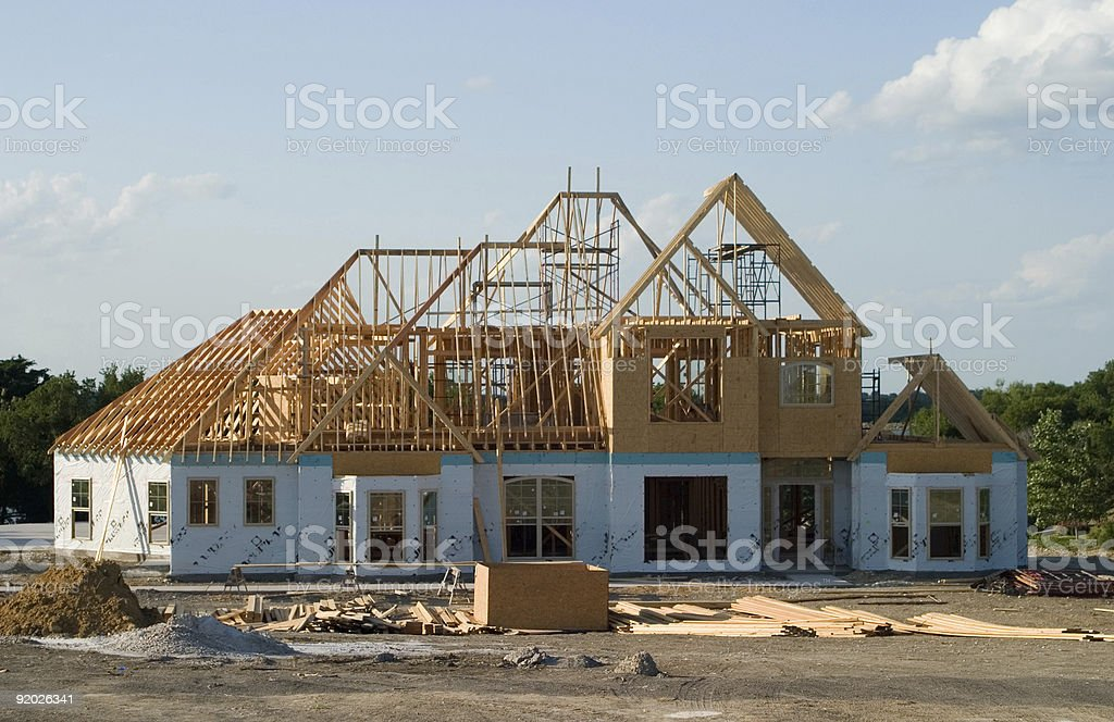 Large House Under Construction royalty-free stock photo