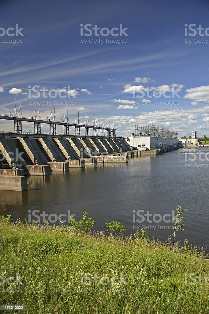 Large Hydro Electric Dam royalty-free stock photo