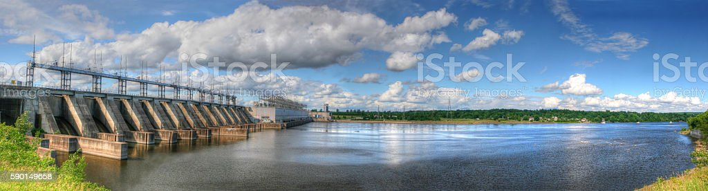 Large Hydro Electric Dam stock photo