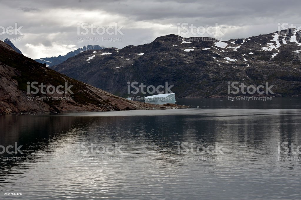 Large Iceberg in the prince Christian Sound stock photo