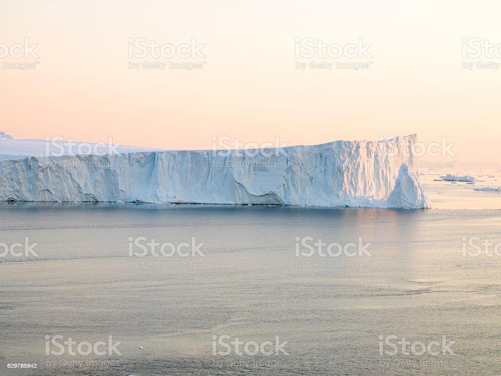 Large icebergs on arctic ocean stock photo