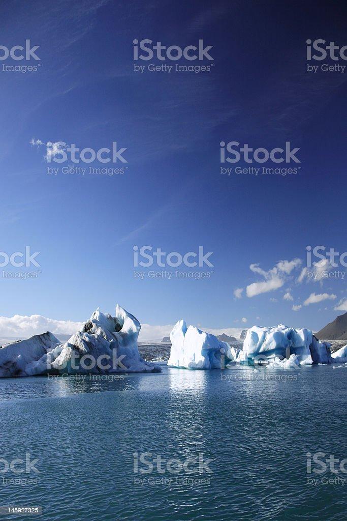 Large icebergs royalty-free stock photo