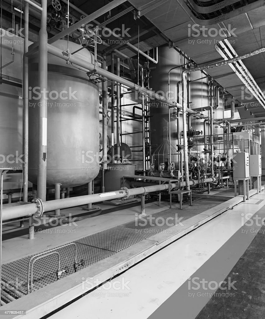 Large industrial boiler room royalty-free stock photo