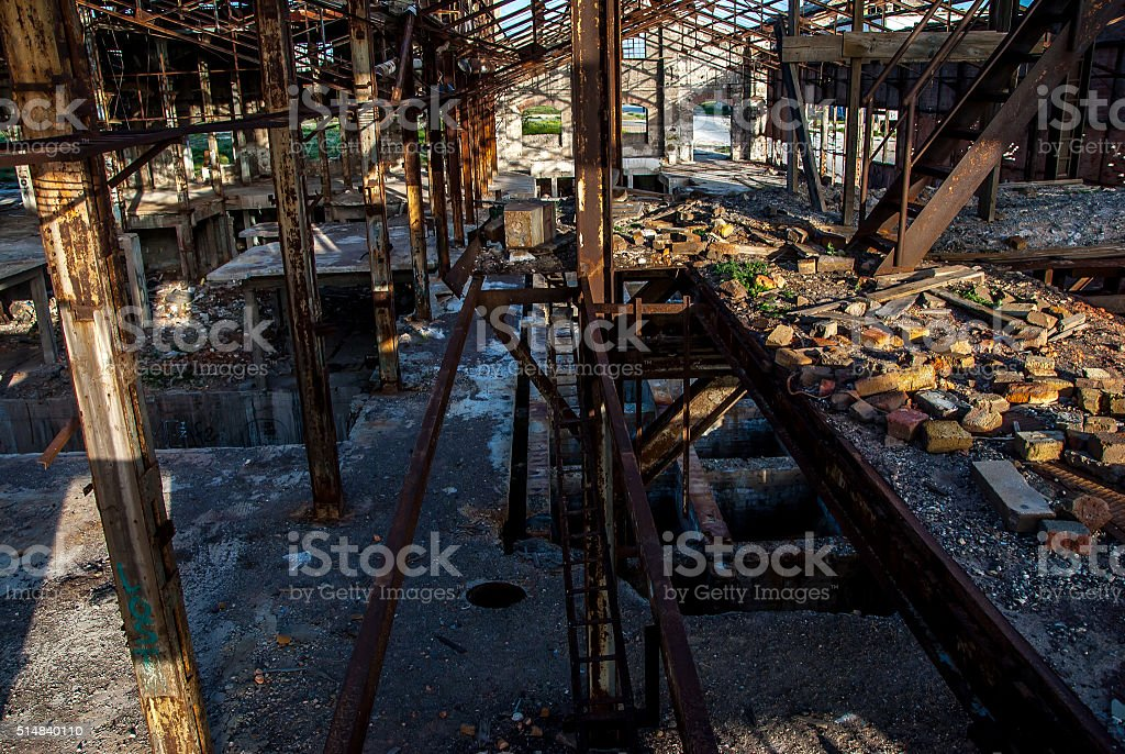Large industrial interior stock photo
