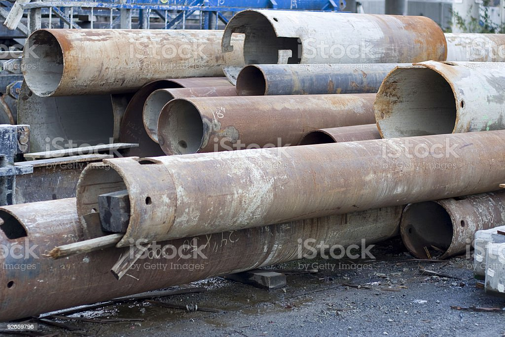 Large industrial pipes royalty-free stock photo
