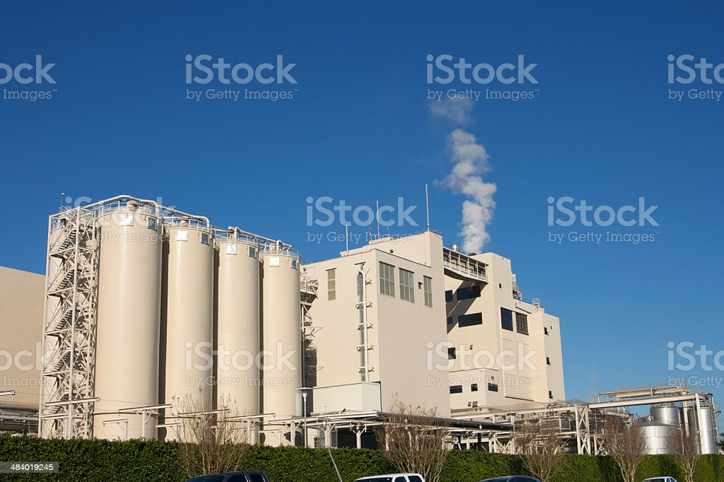 Large Industrial Work Place a Factory for Brewing Beer royalty-free stock photo