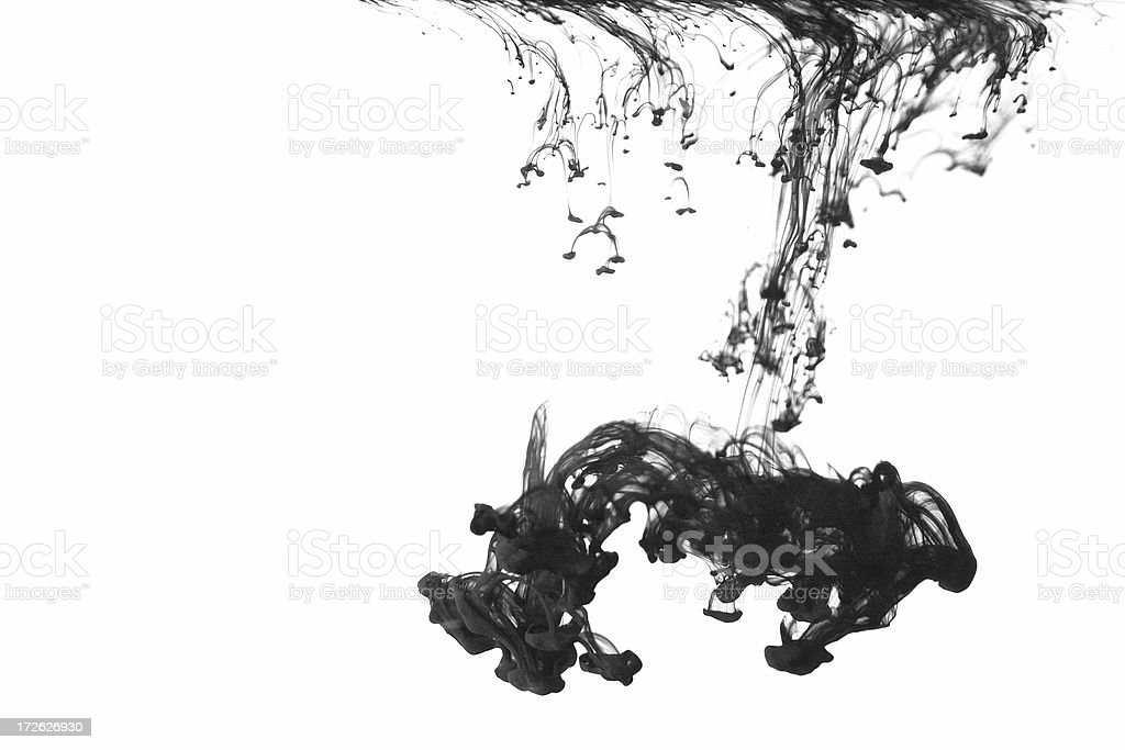 Large Ink Drop royalty-free stock photo