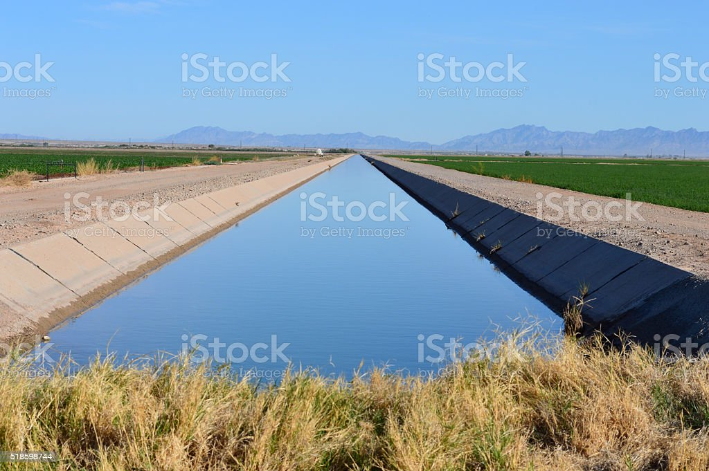 Large Irrigation Canal stock photo