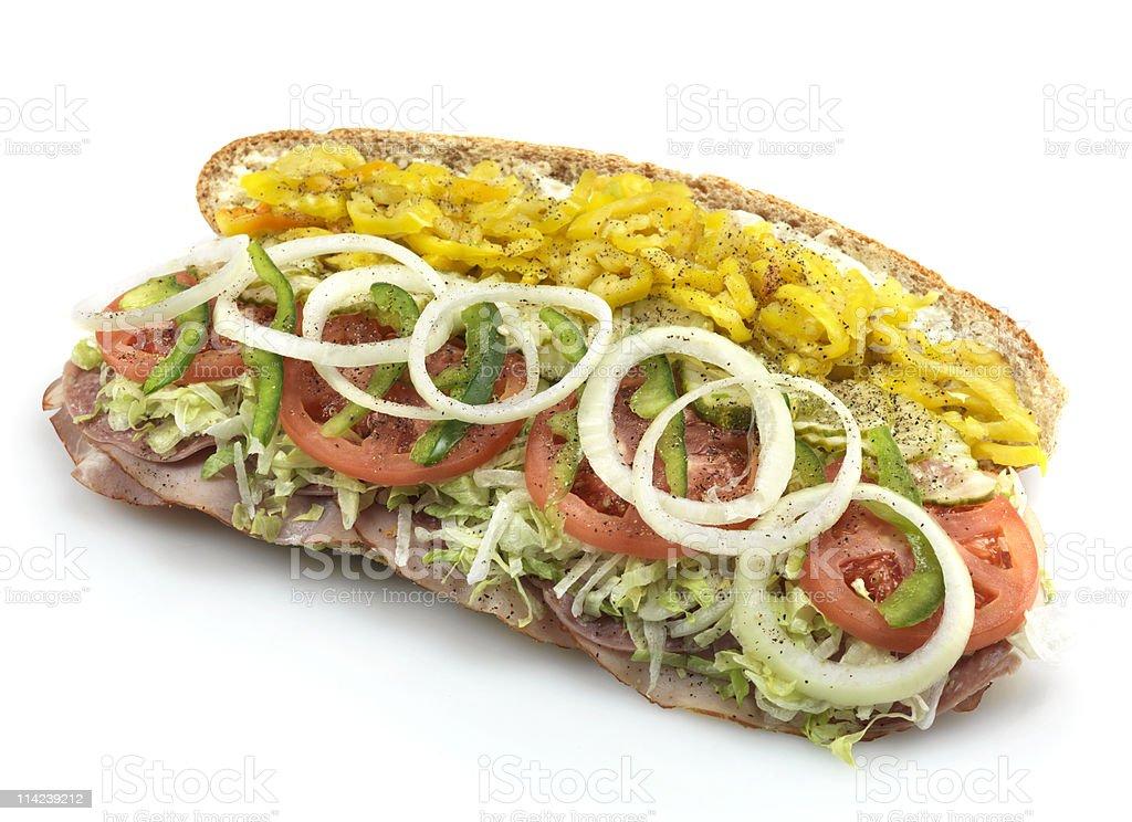 Large italian submarine sandwich royalty-free stock photo