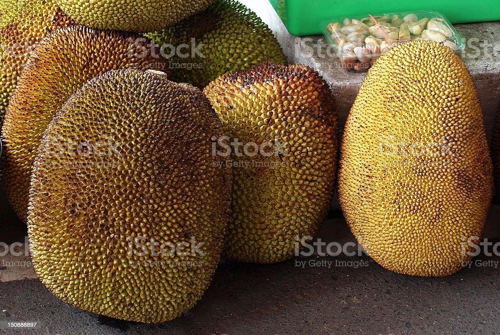 Large Jackfruits for Sale stock photo