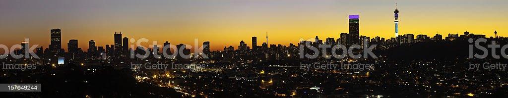 Large Johannesburg City Silhouette stock photo