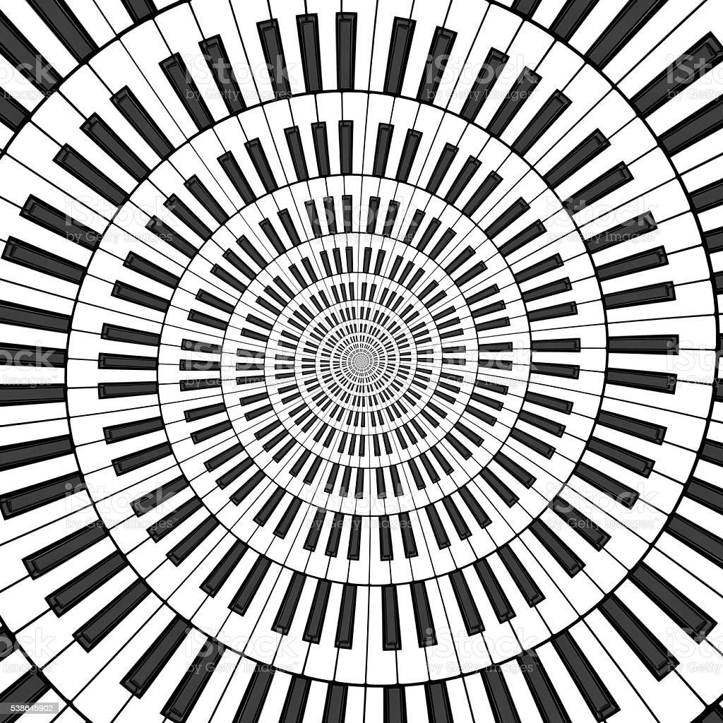 Large Keyboard Spiral stock photo