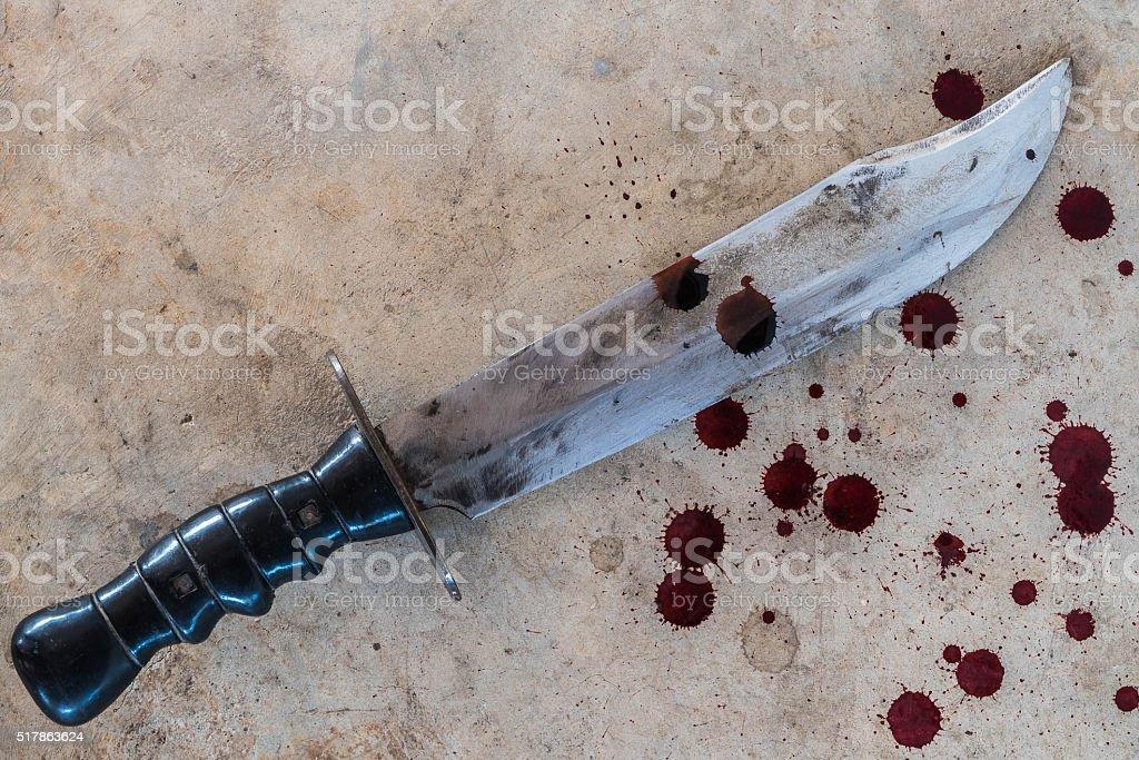 large knife stock photo
