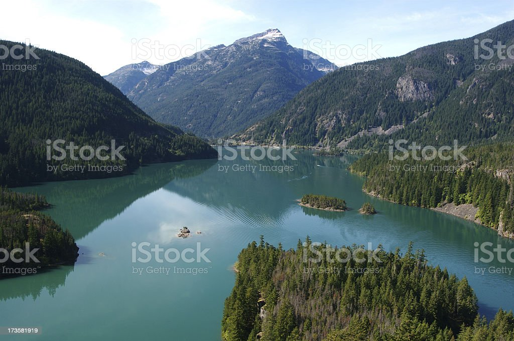 Large Lake In North Cascades National Park stock photo