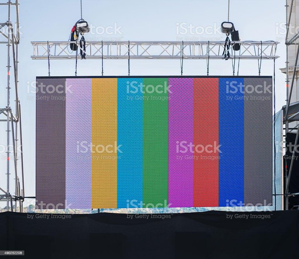 Large LED display stock photo