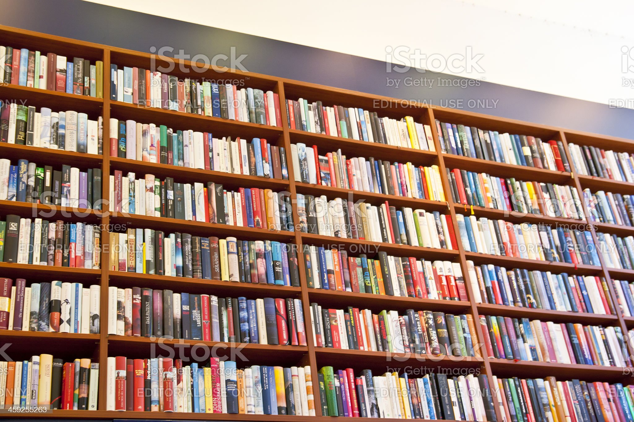 Large Library Bookshelf royalty-free stock photo