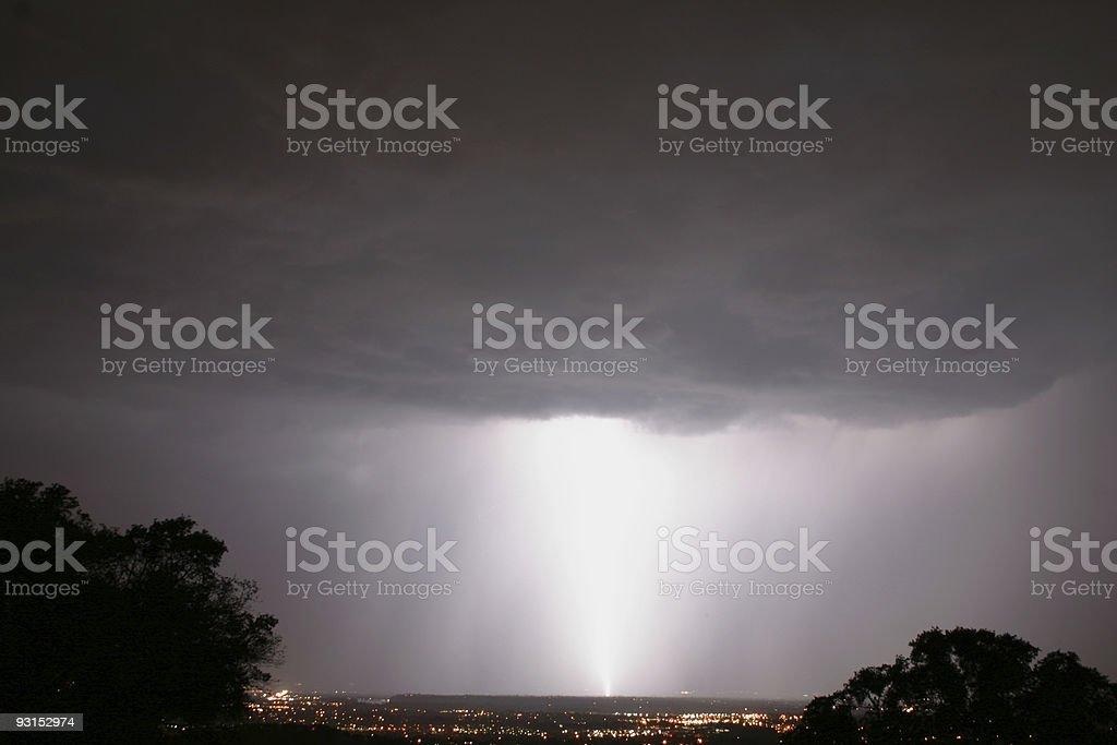 Large Lightning Bolt royalty-free stock photo