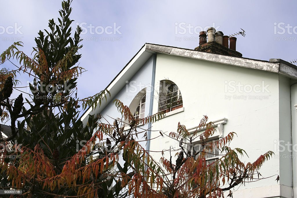 Large  London Georgian Houses royalty-free stock photo