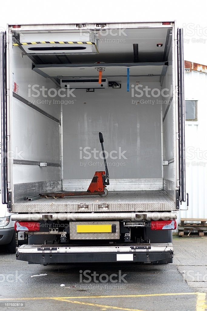 Large lorry empty compartment royalty-free stock photo
