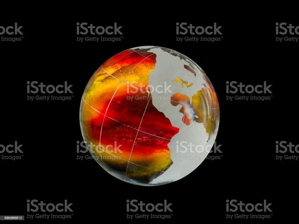 Large, luminous ball - the planet earth stock photo