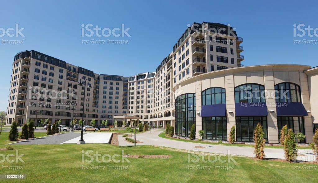 Large Luxury Retirement Habitations stock photo