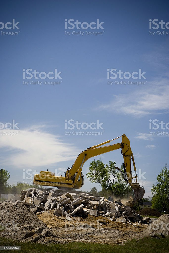 Large machine at a construction site. royalty-free stock photo