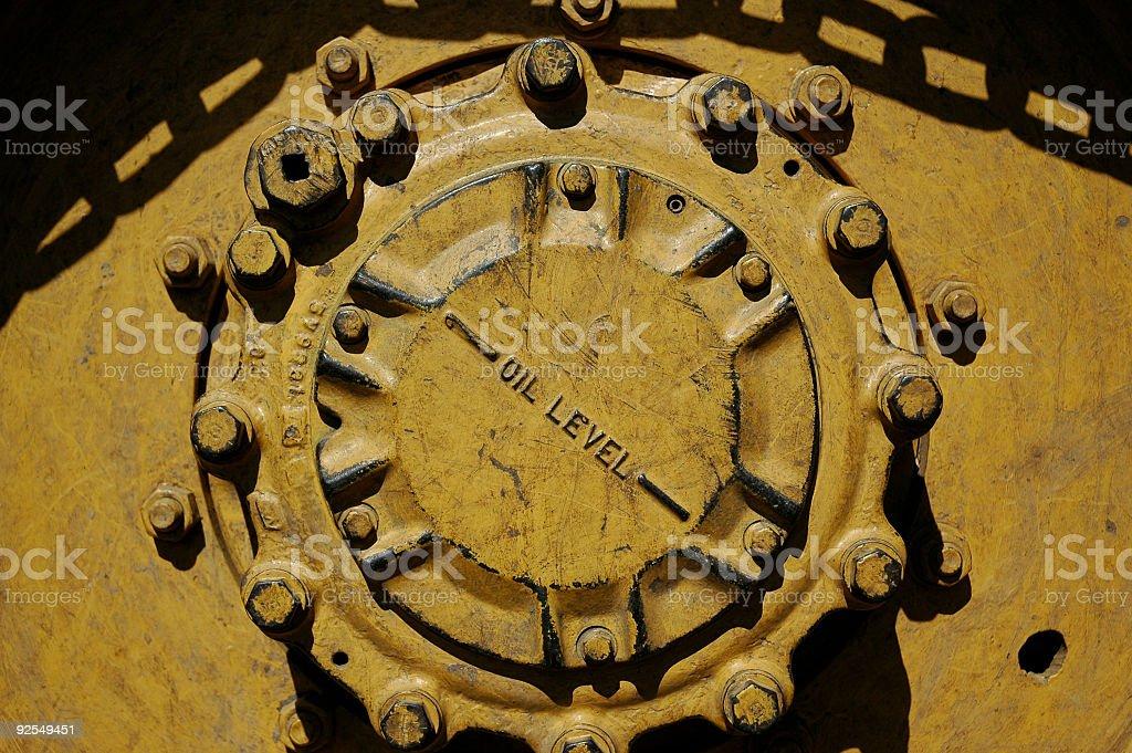 large machinery wheel hub royalty-free stock photo